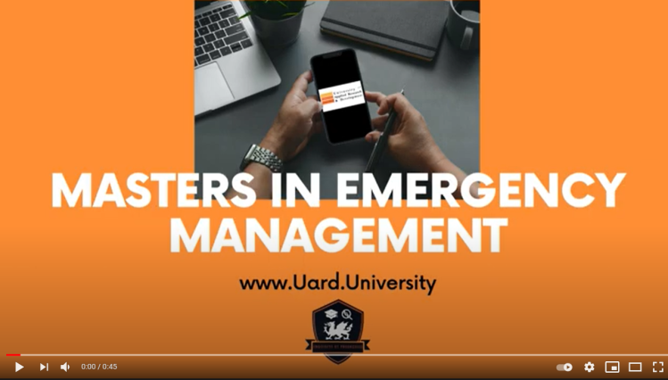 Masters in Emergency Management